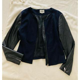 レノマ(RENOMA)のレノマ 革ジャン 革ジャケット ジャケット ネイビー アウター 異素材(ライダースジャケット)