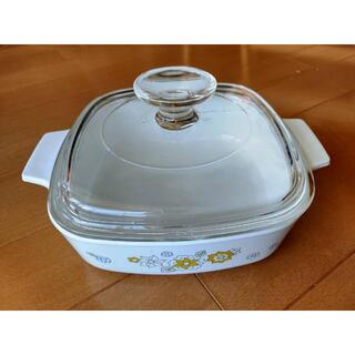 昭和レトロ:コーニングウェア キャセロール鍋(鍋/フライパン)