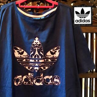 adidas - アディダス 花柄 レア! ダマスク柄 ロゴ Tシャツ タンクトップ ジャージ