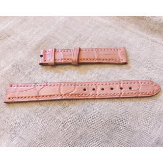 ハリーウィンストン(HARRY WINSTON)のHarry Winston  時計用革ベルト ピンク クロコダイル(腕時計)