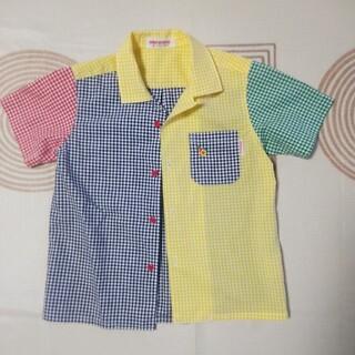 ミキハウス(mikihouse)のミキハウス 半袖チェックシャツ 90(ブラウス)