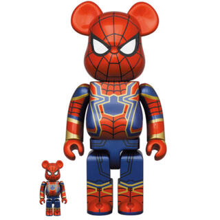 MEDICOM TOY - Be@rbrick iron spiderman 400% & 100%
