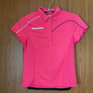 ディアドラ(DIADORA)のDIADORA  襟付き テニスウェア スポーツウェア Tシャツ ピンク(ウェア)