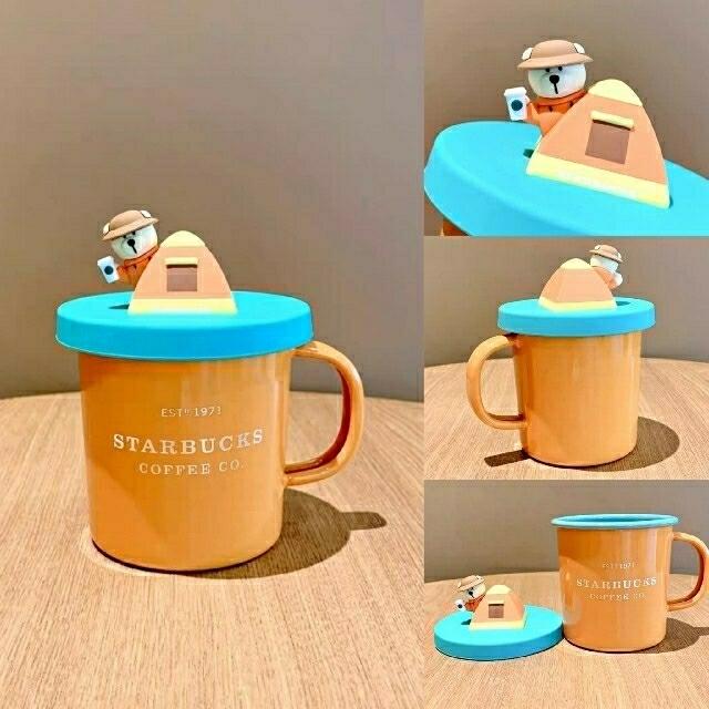 Starbucks Coffee(スターバックスコーヒー)の確認ページ スターバックス中国 夏第2弾 熊 タンブラー インテリア/住まい/日用品のキッチン/食器(タンブラー)の商品写真