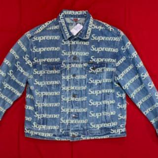 Supreme - Supreme Frayed Logos Denim Trucker Jacke
