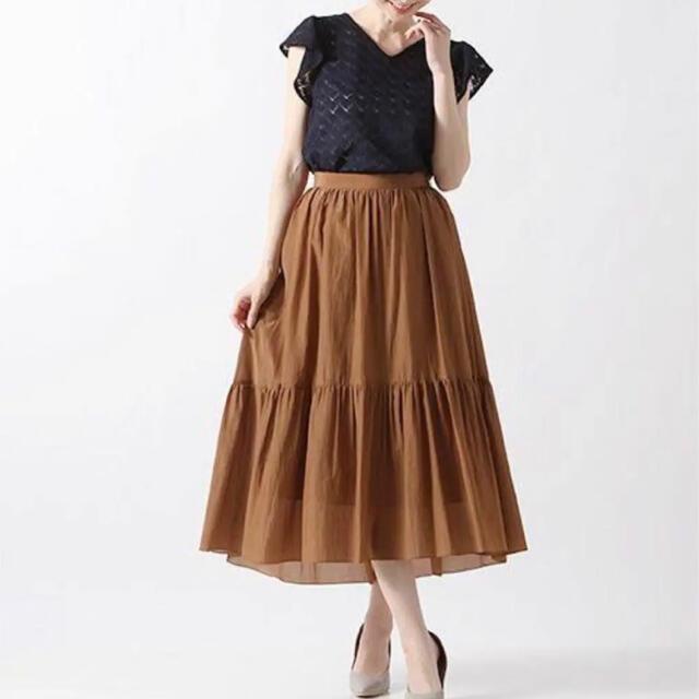 ANAYI(アナイ)のアナイ ライトローンティアードスカート 38 レディースのスカート(ロングスカート)の商品写真