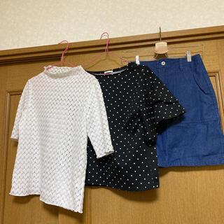 ジーユー(GU)のレディース服 まとめ売り 夏服3点セット コーデ売り(セット/コーデ)