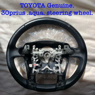 トヨタ - TOYOTA Genuine leather steering wheel.