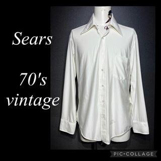 ダブルアールエル(RRL)の70年代 ビンテージ Sears Qiana ナイロン シャツ 70s シアーズ(シャツ)