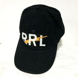 ダブルアールエル(RRL)のRRL ダブルアールエル RRLロゴ ボール キャップ ブラック(ハット)
