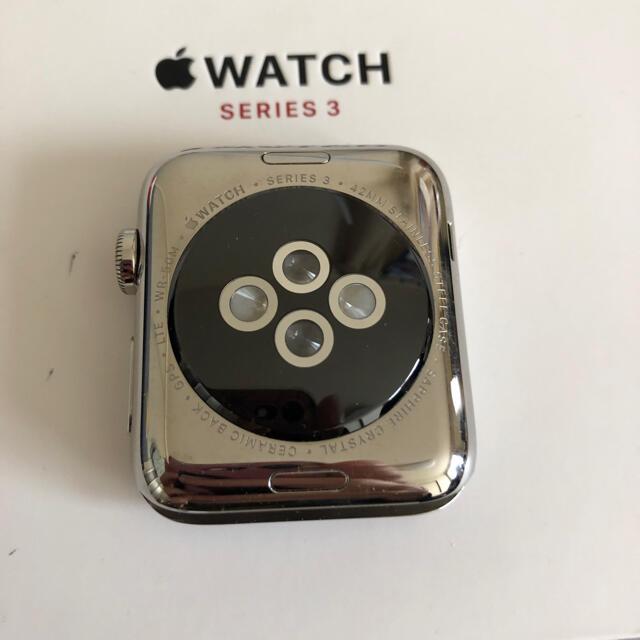 Apple Watch(アップルウォッチ)のしんしん様専用 Apple Watch series3 ステンレス メンズの時計(腕時計(デジタル))の商品写真