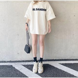 Jil Sander - 人気爆品 JIL SANDER ジルサンダー オーバーサイズ ロゴ Tシャツ