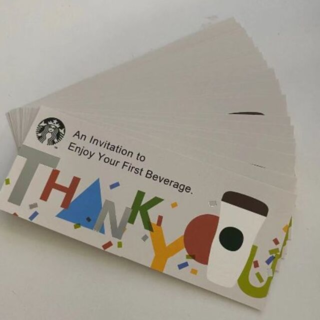 Starbucks Coffee - 30枚 スターバックスコーヒー ドリンクチケット スタバ