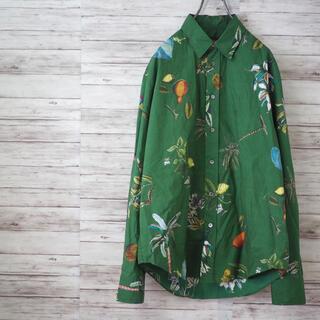 CABaN 20SS コットン ボタニカルプリントシャツ