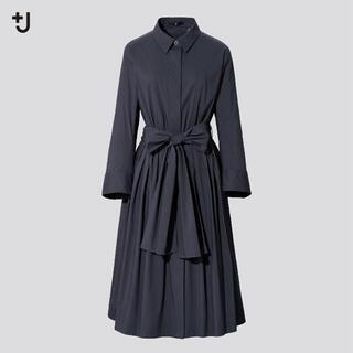 新品 ユニクロ +j タックシャツワンピース  Sサイズ