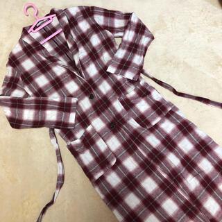 オリーブデオリーブ(OLIVEdesOLIVE)のOLIVEdesOLIVE ロングシャツ 羽織り(シャツ/ブラウス(長袖/七分))