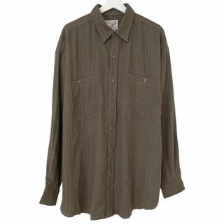 フランクリーダー(FRANK LEDER)のデッドストック 80's GOOUCH グーチ シャツ シルク カーキ S(シャツ)