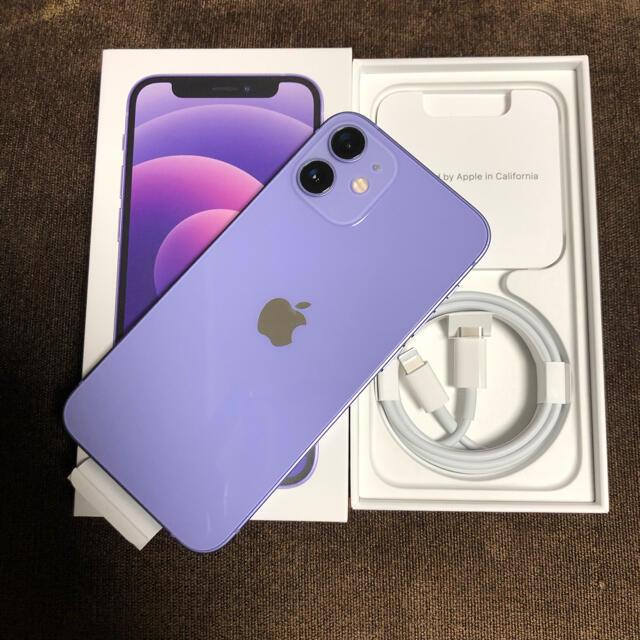 iPhone(アイフォーン)の訳ありiPhone12 mini64Gパープル新品 スマホ/家電/カメラのスマートフォン/携帯電話(スマートフォン本体)の商品写真