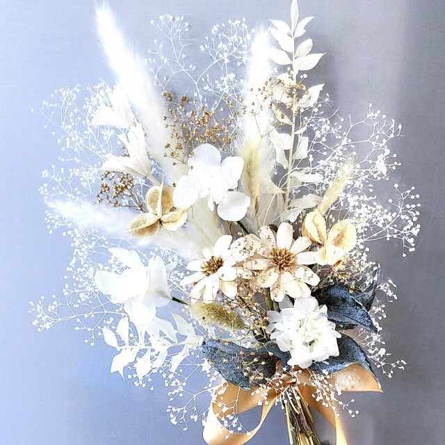 ♥ドライフラワー花束 *スワッグ*ブーケ ハンドメイドのフラワー/ガーデン(ドライフラワー)の商品写真