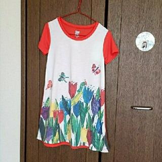Design Tshirts Store graniph - graniph チューリップガーデン ボートネックボックスワンピース