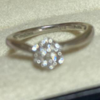 ヴァンドームアオヤマ(Vendome Aoyama)のプラチナお花ダイヤモンドリング 8号 ヴァンドームアオヤマ(リング(指輪))