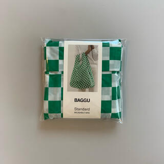 エディットフォールル(EDIT.FOR LULU)のbaggu standard グリーンチェッカー(エコバッグ)