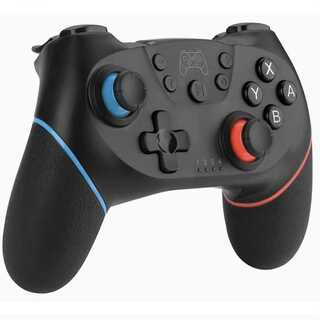 switch スイッチ ワイヤレス コントローラー プロコン 連射機能搭載 青赤