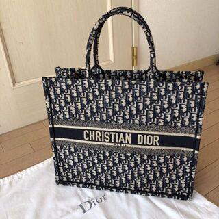 Dior - 大人気 ディオール DIOR ブックトート ネイビー スモール