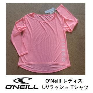 オニール(O'NEILL)のO'Neill レディス 水陸両用 UVラッシュ Tシャツ ピンク サイズ M(サーフィン)