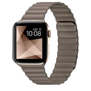 Apple Watch - Apple Watchバンド ブラウン合皮 マグネットにて着脱