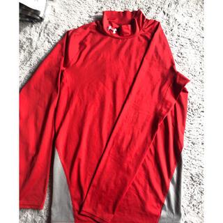 アンダーアーマー(UNDER ARMOUR)のアンダーアーマー 赤 長袖 パワーシャツ  コンプレッションアンダーシャツ (トレーニング用品)