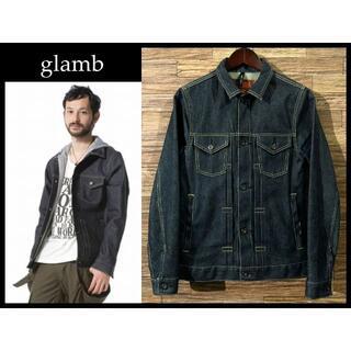 グラム(glamb)のglamb グラム インディゴ 生デニム トラッカー ジャケット Gジャン M(Gジャン/デニムジャケット)