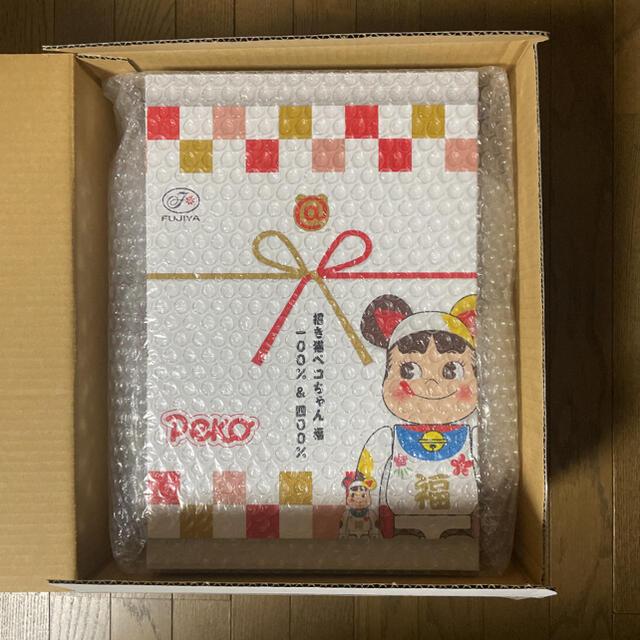 MEDICOM TOY(メディコムトイ)のBE@RBRICK 招き猫 ペコちゃん 福 100% & 400% エンタメ/ホビーのフィギュア(その他)の商品写真