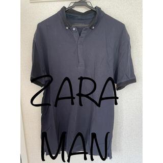 ZARA - 【ZARAMAN】ザラ 半袖ポロシャツ 黒 XL