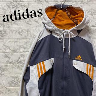 アディダス(adidas)のアディダス トラックジャケット ブルゾン ビッグ刺繍ロゴ 90's  (ブルゾン)