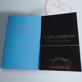 ドルチェアンドガッバーナ(DOLCE&GABBANA)の12 ドルチェ&ガッバーナ香水サンプル2点セット(ユニセックス)