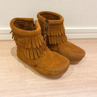 ミネトンカ(Minnetonka)の14cm ミネトンカ ブーツ こども フリンジ 子供 (ブーツ)