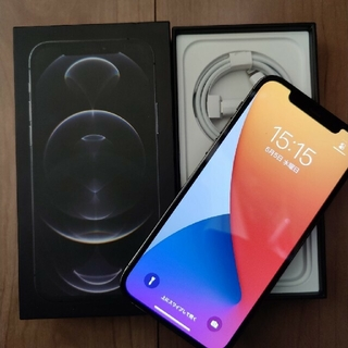 アイフォーン(iPhone)のiPhone12pro グラファイト 美品 アップルストアー版 本体  (スマートフォン本体)