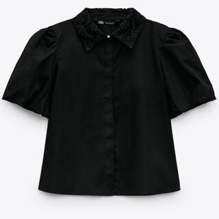 ZARA - ZARA コントラストカラー ポプリンシャツ ブラウス