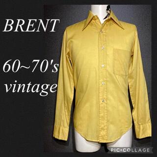 ダブルアールエル(RRL)の60年代 70年代 ビンテージ アメリカ製 BRENT ポリコットン シャツ(シャツ)