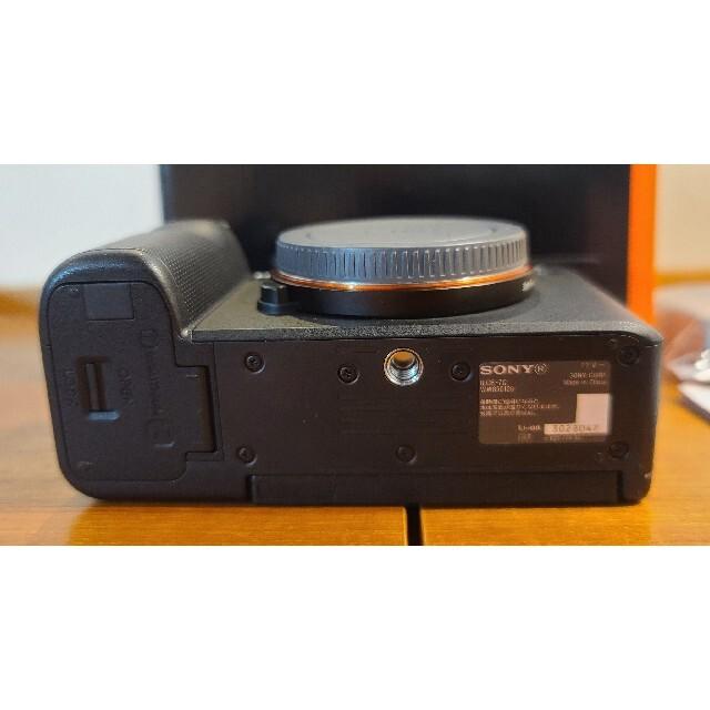 SONY(ソニー)の美品 SONY α7C ブラック スマホ/家電/カメラのカメラ(ミラーレス一眼)の商品写真