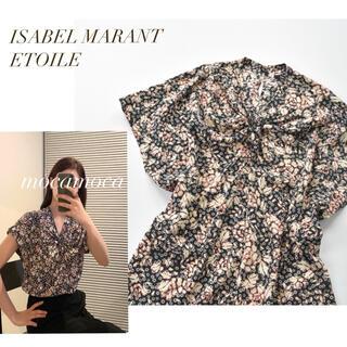 Isabel Marant - 美品 ISABEL MARANT ETOILE 上質シルク 花柄 フリルブラウス