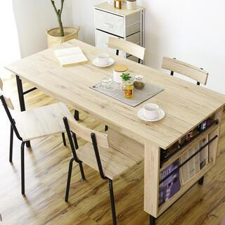 ダイニングテーブルセット 5点セット伸縮 食卓テーブル 4人掛け 木製 モダン