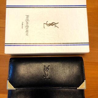 Saint Laurent - イヴサンローラン 長財布 がま口 レディース 黒