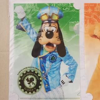ディズニー(Disney)の【単品】グーフィー TDS15周年記念グッズ A6サイズクリアホルダー(クリアファイル)