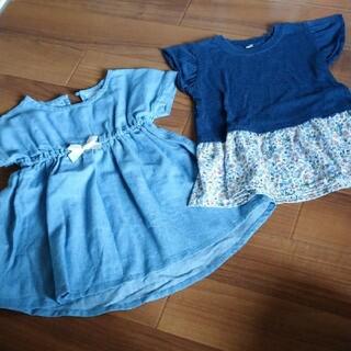 しまむら - Tシャツ ワンピース チュニック 女の子 女児 90 95