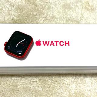 アップルウォッチ(Apple Watch)の【美品】apple watch 6 40mm レッド アルミニウム GPSモデル(腕時計(デジタル))