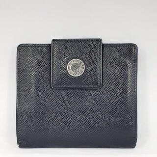 BVLGARI - BVLGARI(ブルガリ)Wホック コンパクト財布 レザー ブラック
