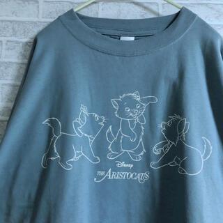 ディズニー(Disney)の【新品】 マリーちゃん ロンT 長袖 おしゃれキャット 水色 くすみカラー(Tシャツ(長袖/七分))