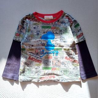 ピーナッツ(PEANUTS)のスヌーピー PEANUTS レイヤーカットソー 100cm(Tシャツ/カットソー)